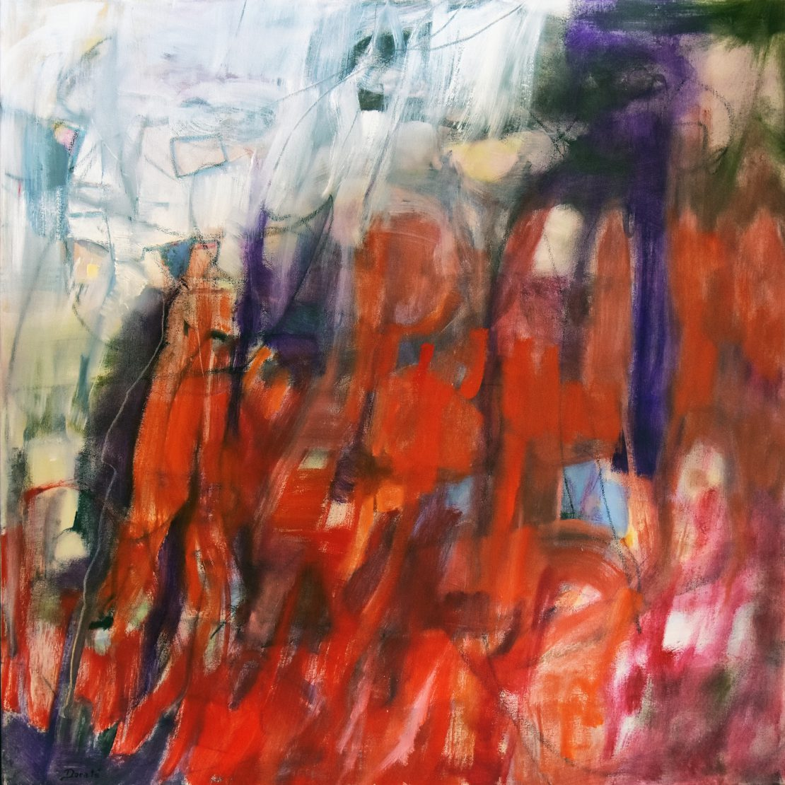 """Original Abstract Artwork by Dorate, """"Abstract Journey"""""""