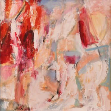 """Original Abstract Artwork by Dorate, """"Ladies in Red"""""""