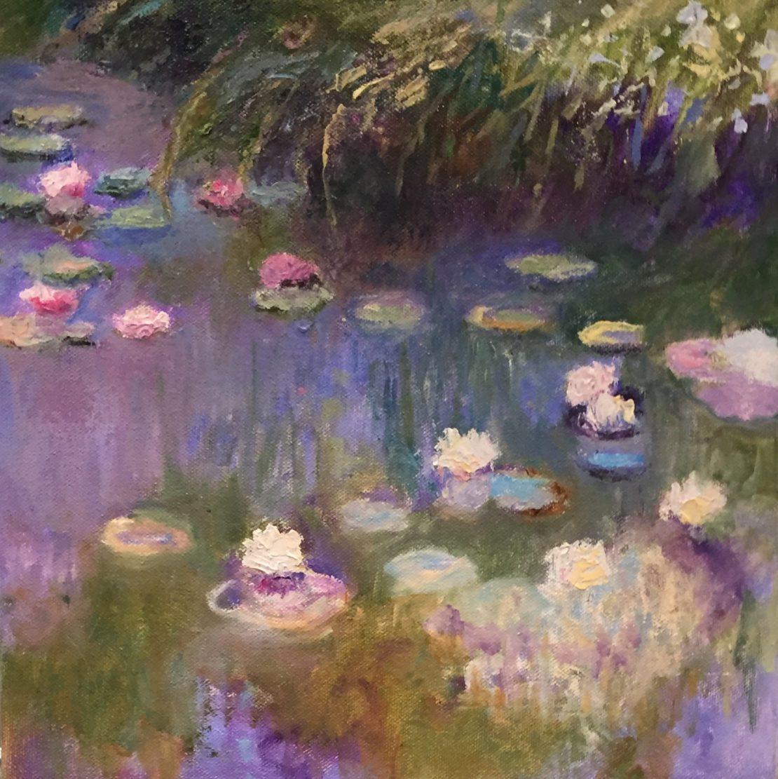 """Original Oil Painting by Artist Dorate """"a la Monet"""""""