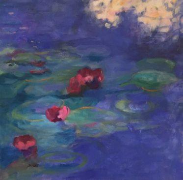 "Original Oil Painting ""Dorate's Waterlillies"""
