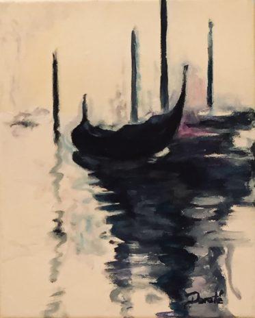 "Original En Plein Air Artwork by Dorate ""Remembering Venice IV"""