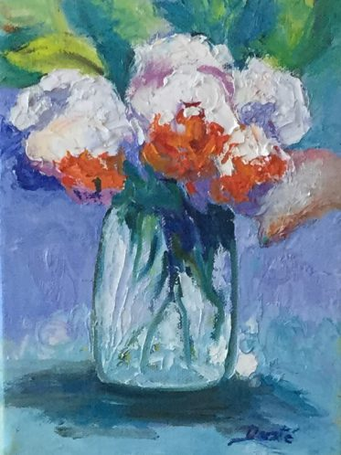"""Original Still Life Oil Painting by Dorate, """"Happy III"""""""
