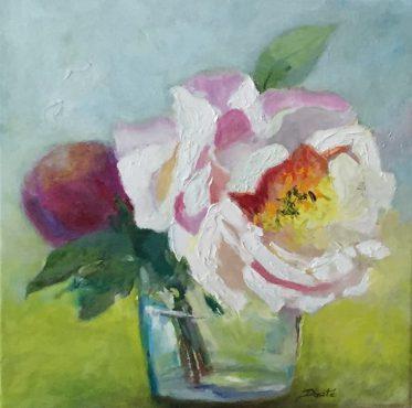 "Original Oil Painting by Artist Dorate ""Peony II"""