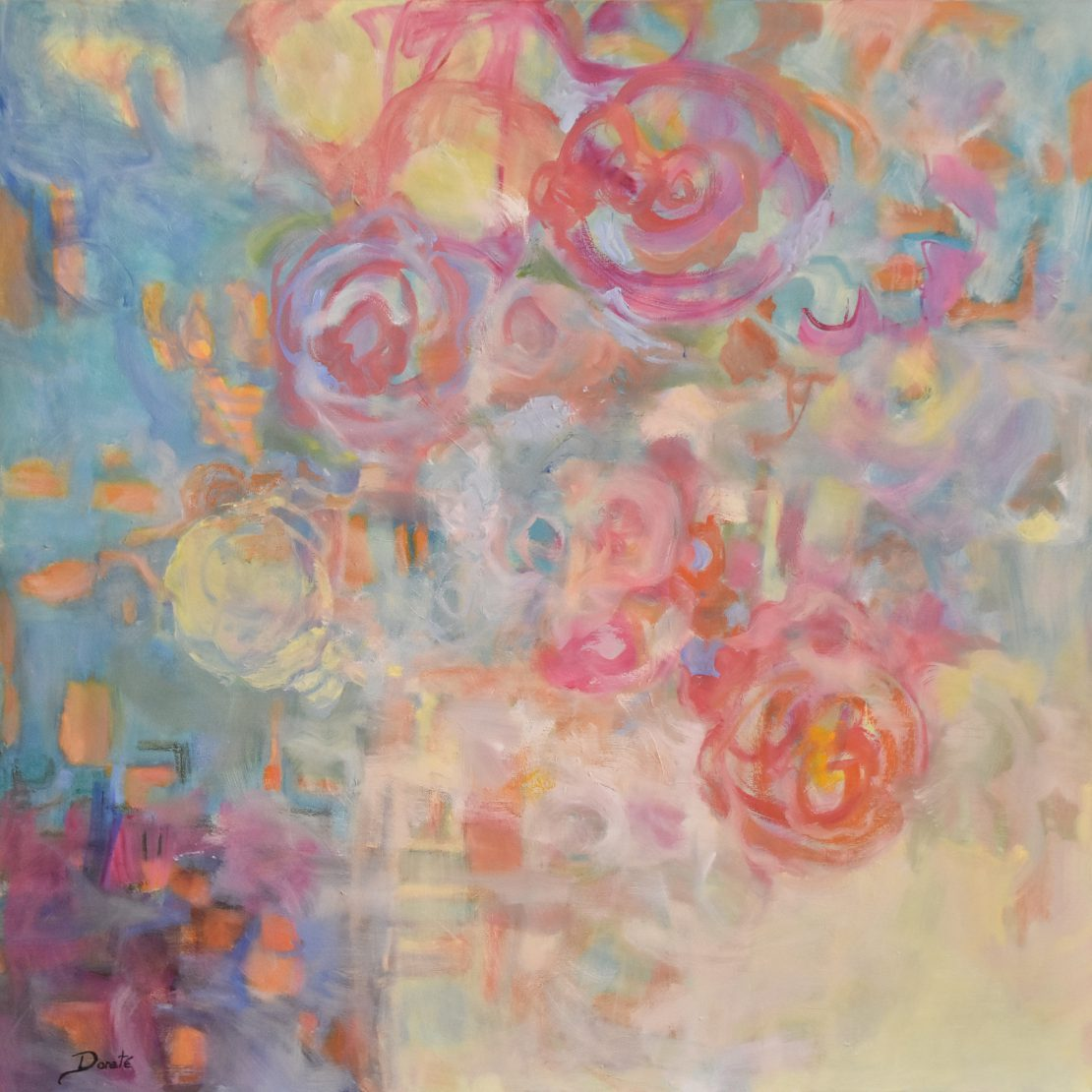 """Original Abstract Artwork by Dorate, """"Big Flowers"""""""